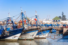 Fishing boats, Essaouira Royalty Free Stock Image