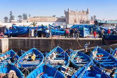 Fishing boats, Essaouira Stock Image