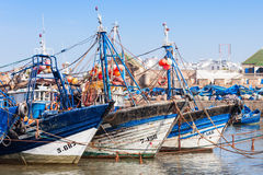 Fishing boats, Essaouira Stock Photo
