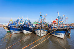 Fishing boats, Essaouira Royalty Free Stock Photography