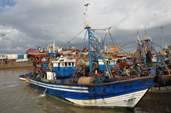 Fishing boats in Essaouria, Morocco Stock Photo