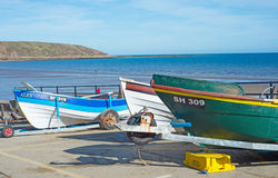 Fishing boats at Filey Royalty Free Stock Image