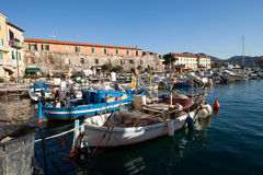 Fishing Boats And Fisherman Royalty Free Stock Photography