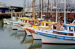 Fishing boats in Fisherman Wharf San Francisco Royalty Free Stock Images