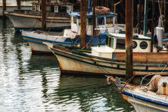 Fishing boats in Fishermans Wharf Stock Photo