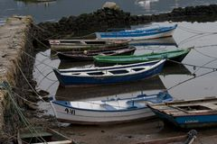 Fishing boats. Boats of fishermen in Galicia, Spain Royalty Free Stock Image