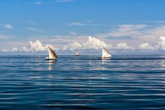 Fishing boats. Off Nosy Be, North of Madagascar Stock Image