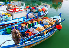 Fishing boats with fishing gear. Stock Image