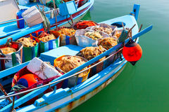 Fishing boats with fishing gear. Stock Photo