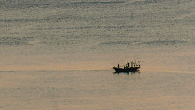 Fishing boats are fishing on ocean Royalty Free Stock Photos