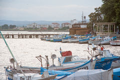 Fishing boats after fishing season in Pomorie, Bulgaria Royalty Free Stock Photo