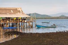 Fishing boats and fishing village Stock Photography