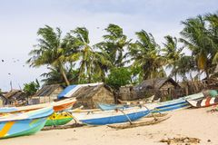 Trincomalee Fishing Village Royalty Free Stock Photography