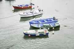 Fishing boats floating Royalty Free Stock Photo