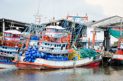 Fishing boats floating Stock Image