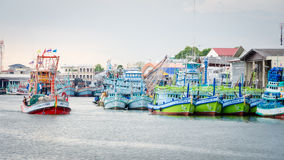 Fishing boats floating Stock Photo