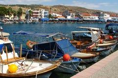 Fishing Boats in Foca Stock Photos