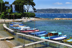 Fishing boats in the French Riviera, France Royalty Free Stock Images
