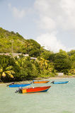 Fishing boats friendship bay bequia st. vincent Royalty Free Stock Images