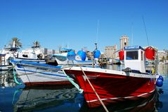 Fishing boats, Fuengirola. Royalty Free Stock Photo