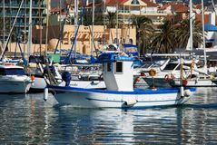 Fishing boats, Fuengirola. Royalty Free Stock Photography