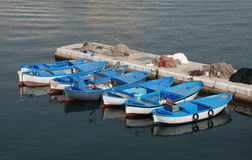 Fishing Boats, Gallipoli Harbour Royalty Free Stock Photos