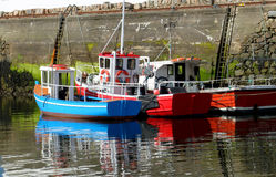 Fishing Boats Galway Bay Harbor Stock Photo
