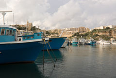 Fishing Boats on Gozo Stock Photography