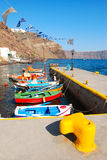 Fishing boats in greece Stock Photography