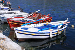 Fishing boats in Greece. Royalty Free Stock Photo