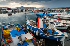 Fishing boats in Greece Royalty Free Stock Images