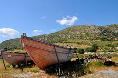 Fishing boats on greek island Stock Photography