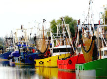 Colourful fishing boats. Stock Images