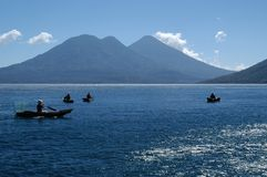 Fishing boats, Guatemala Royalty Free Stock Photo
