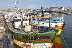 Fishing port at Guilvinec in France stock photography