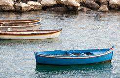 Fishing boats in the Gulf of Naples Royalty Free Stock Photography