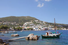 Fishing boats in the harbor of Agia Marina, Leros Stock Photography