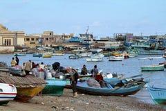 Fishing boats in the harbor of Alexandria Royalty Free Stock Photo