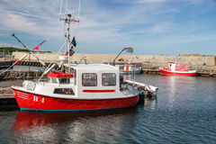 Fishing boats in the harbor Royalty Free Stock Image