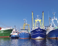 Fishing boats in harbor Stock Image