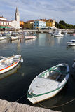 Fishing boats in harbor of Fazana Royalty Free Stock Photo