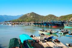 Fishing boats in the harbor. Fishing boats moored in the harbor, Fujian, China Royalty Free Stock Image