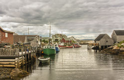 Fishing Boats in Harbor Royalty Free Stock Images