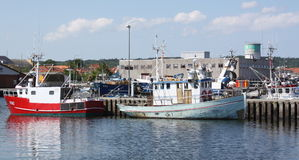 Fishing boats in the harbor.Denmark royalty free stock photo