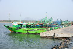 Fishing boats in the harbor, Royalty Free Stock Photography