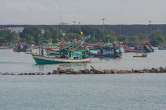 Fishing boats in the harbor. Royalty Free Stock Photography