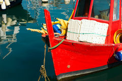 Fishing Boats in the Harbor - Liguria Italy Royalty Free Stock Images
