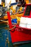 Fishing Boats in the Harbor - Liguria Italy Stock Photos