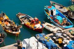 Fishing Boats in the Harbor - Liguria Italy Royalty Free Stock Photo