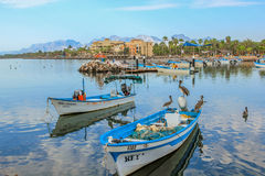 Port of Loreto. Boats are docked at the port of Loreto, Baja California Sur, Mexico Royalty Free Stock Photo